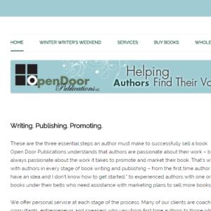 screen shot of open door publications website