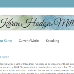 screen shot of karen hodges miller website