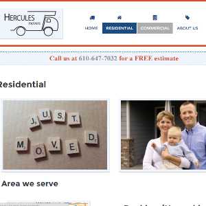 hercules movers website screenshot