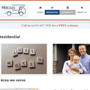 hercules movers website screenshot
